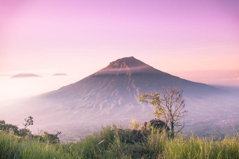 volcano representing grief