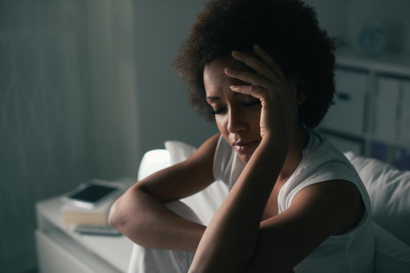 Woman suffering low self esteem
